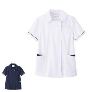 アクティブストレッチ・ネオ ゆったり配色ジャケット(3L〜6L) 医療 ナース 看護 白衣 女性 大きいサイズ|nursery-y