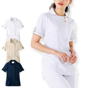 医療 ナース 看護 白衣 女性 アクティブストレッチ・ネオ タブジャケット S M L LL 3L|nursery-y