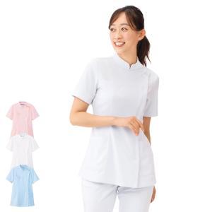 医療 ナース 看護 白衣 女性 ストレッチケーシージャケット|nursery-y