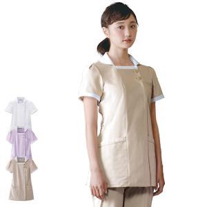 医療 ナース 看護 白衣 女性 コードレーン クレリックショールカラージャケット(S/M/L/LL/3L)|nursery-y