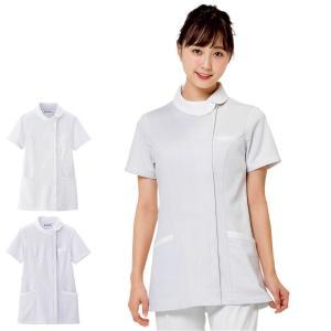 医療 ナース 看護 白衣 女性 ホワイトリリー ロールカラージャケット|nursery-y