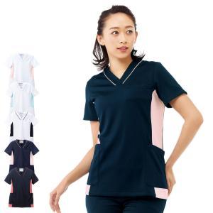 医療 ナース 看護 白衣 女性 配色マルチジャケット|nursery-y