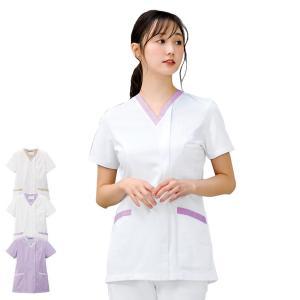 医療 ナース 看護 白衣 女性 コードレーン スクラブジャケット(オープン)|nursery-y