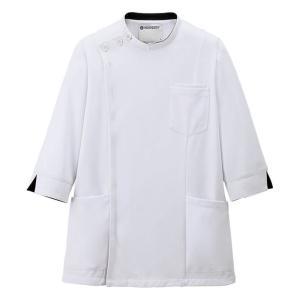医療 ナース 看護 白衣 男性 アクティブストレッチ 7分袖ケーシージャケット(メンズ)|nursery-y