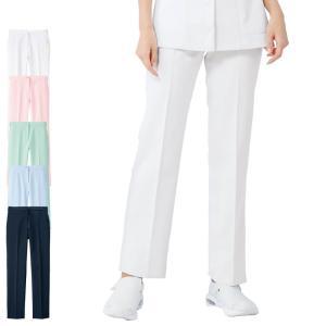 医療 看護 白衣 女性 レディース 涼しい 透け ユニフォーム 制電クールストレッチ ストレートパンツ|nursery-y