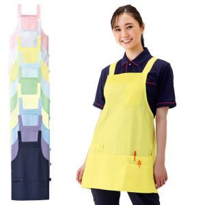 白衣 女性 ナースウェア ショート丈6ポケットエプロン(M−L)|nursery-y