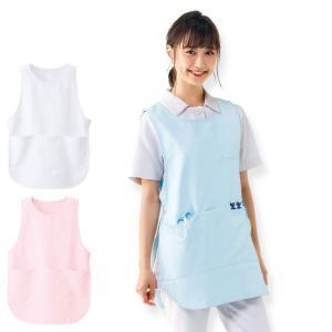 白衣 女性 ナースウェア 看護師 お尻がすっぽり隠れる制電エプロン|nursery-y