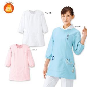 白衣 女性 ナースウェア 看護師 お客様の声から生まれた制電ショート丈予防衣 M-LL|nursery-y