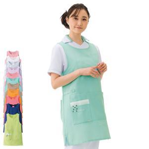 ナース エプロン 介護 病院 保育士 看護師 歯科衛生士 3175 カラフルアニマル エプロン(チュニック型) |nursery-y