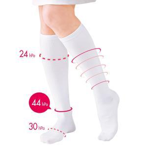 白衣 女性 靴下 病院 ホワイト ナースリー着圧ソックス(1足組)|nursery-y