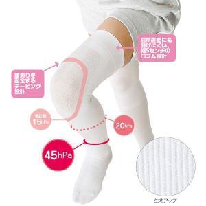 白衣 女性 看護師 靴下 膝サポーター付き着圧ハイソックス|nursery-y
