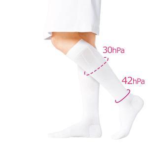 エールブラン サポート着圧ハイソックス 医療用 看護 介護 病院 靴下 ナース 女性|nursery-y