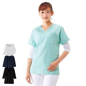 医療 ナース 看護 白衣 女性 吸汗速乾スクラブインナー2 (7分袖)