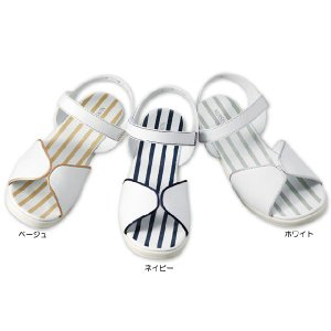 看護師 ナース 医療用 靴  パイピングエレガンスサンダル|nursery-y