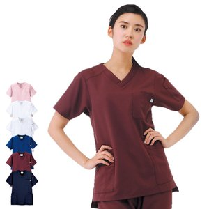 エールブラン エールスタイル スクラブ(男女兼用) BT2201 医療 ナース 看護 白衣 女性 男性|nursery-y