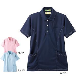看護 介護 ケアウェア 男女兼用 ナースリー サイドポケットステッチポロシャツ|nursery-y