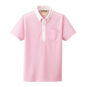 看護 介護 病院 保育士 ケア ヘルパー ユニフォーム ボタンダウンニットシャツ(SS/S/M/L/LL/3L)|nursery-y