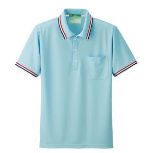 看護 介護 病院 保育士 ケア ヘルパー ユニフォーム トリコロールラインポロシャツ|nursery-y
