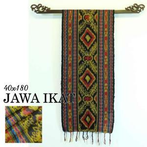 アジアン 布 織物 イカット ジャワイカット40x180cm−002 タペストリー nusa