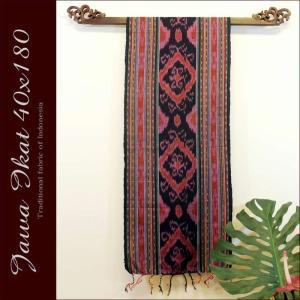 アジアン雑貨 布織物 ジャワイカット40x180cm−003  nusa