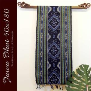 アジアン雑貨 布織物 ジャワイカット40x180cm−005 nusa