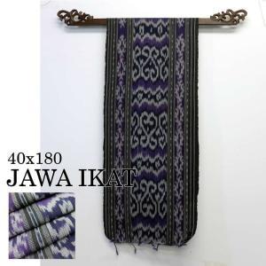 アジアン雑貨 布織物 ジャワイカット40x180cm−006 nusa