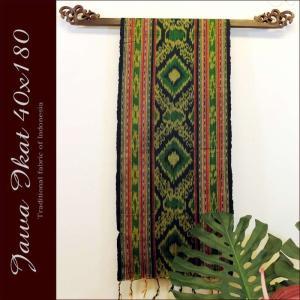 イカット アジアン 布織物 ジャワイカット40x180cm−009  nusa