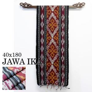 イカット アジアン 布織物 ジャワイカット40x180cm−010  タペストリー テーブルセンター nusa