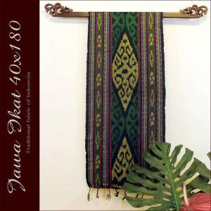 イカット アジアン 布織物 ジャワイカット40x180cm−011 nusa