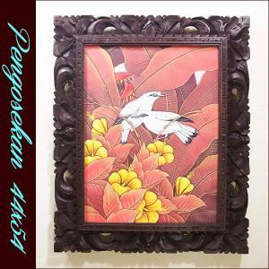 バリ絵画 アジアン/バリ絵画 花鳥風月 プンゴセカンMP-004|nusa