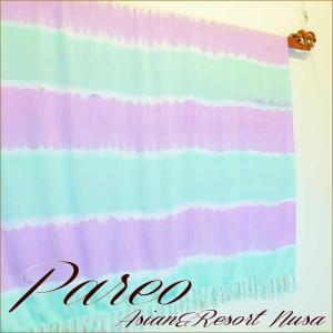パレオ 大判 タヒチアン ダンス サラサ-077 アジアン雑貨 布 水着|nusa