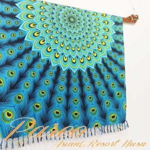 パレオ 大判 タヒチアン ダンス サラサ-080 アジアン雑貨 布 水着|nusa