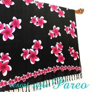 パレオ 大判 タヒチアン ダンス サラサ-084 アジアン雑貨 布 水着|nusa
