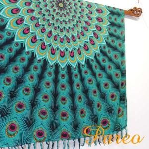 パレオ 大判 タヒチアン ダンス サラサ-089 アジアン雑貨 布 水着|nusa