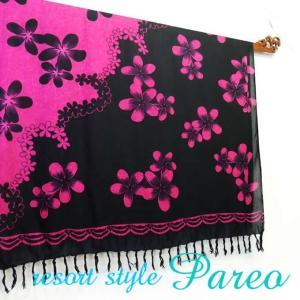 パレオ 大判 タヒチアン ダンス サラサ-092 アジアン雑貨 布 水着|nusa