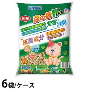 (ケース販売/即日発送) 猫砂楽園 森の香ダブル 7L×6袋 (猫砂) ニュートロドッグフード ガレノス