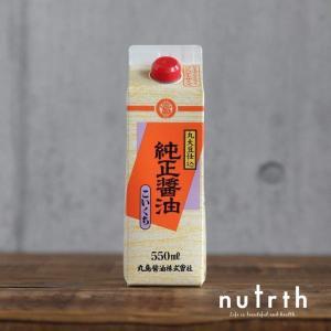 醤油 丸島醤油 純正醤油こいくち 紙パック 無添加 550ml|nutrth