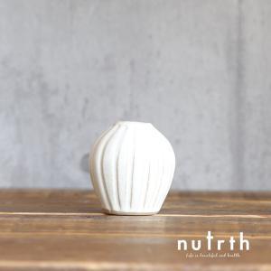 【益子焼】わかさま陶芸 一輪挿し 徳利型 白|nutrth