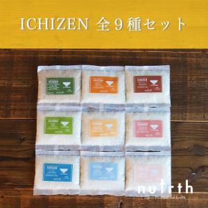 【無添加】無洗米 小分け米 銘柄 nutrth ICHIZEN 全9種セット