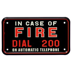 IN CASE OF FIRE DIAL 200|nuts-berry