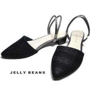 ジェリービーンズ JELLY BEANS サンダル ミュール 黒 レディース 靴|nws