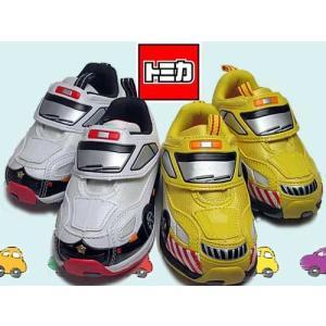 トミカ TOMICA 光る靴 パトカー 道路パトロールカー キャラクターシューズ マジックベルト 男の子用 キッズ 靴|nws