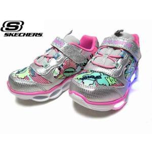 スケッチャーズ SKECHERS S Lights LUMI-LUXE  ライトアップスニーカー シルバーマルチ キッズ 靴|nws