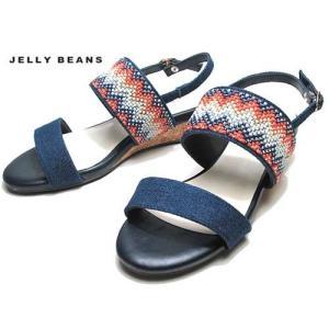 ジェリービーンズ JELLY BEANS ストーンビジューベルトサンダル デニム レディース 靴|nws