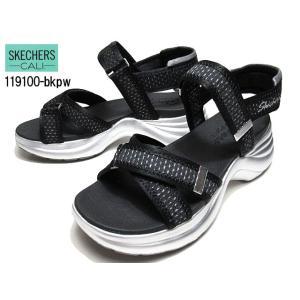 スケッチャーズ SKECHERS Solei St. - MOOD SHINER 119100 ブラックピューター 厚底サンダル レディース 靴|nws