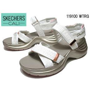 スケッチャーズ SKECHERS ソーレイストリート ムードシャイナー ホワイトローズゴールド 厚底サンダル レディース 靴|nws
