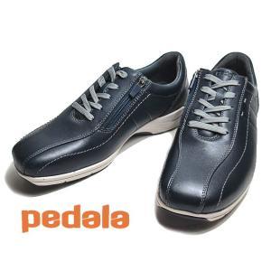 アシックス ペダラ asics Pedala MS036C 3E ディープオーシャン ファスナー付きレースアップウォーキング メンズ 靴 nws