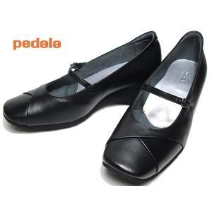 アシックス ペダラ asics Pedala WC082B ワイズ3E ストラップパンプス ブラックブラック レディース 靴|nws