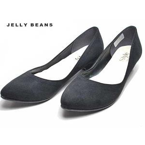 ジェリービーンズ JELLY BEANS アーモンドトゥプレーンパンプス 黒S レディース 靴|nws
