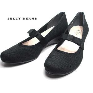 ジェリービーンズ JELLY BEANS ミニリボンベルトパンプス 黒 レディース 靴|nws